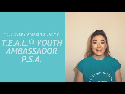 T.E.A.L.® Youth Ambassador Sara Dahdouh Ovarian Cancer PSA