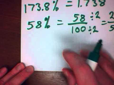 Mr. v teaching math Percent 3 Percent as Decimals and Fractions