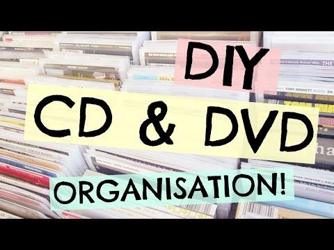DIY CD & DVD ORGANISATION!    AZARIA BELL