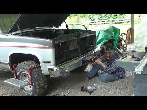 1991 GMC Jimmy Front Bumper Installation