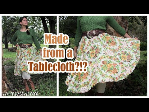 Tablecloth to Skirt Transformation | Sewing how to | Whitney Sews