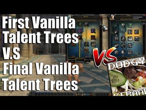 First Vanilla Talent Trees VS Final Vanilla Talent Trees
