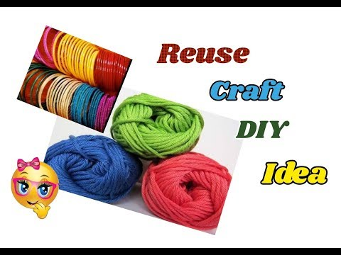 Reuse DIY Craft Idea with wool and bangles