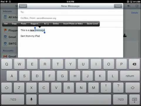 iPad 101 Keyboard and Editing Features