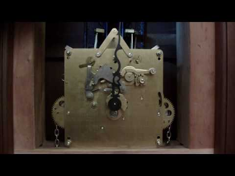 Emperor Grandfather clock movement with out dial, with chimes.