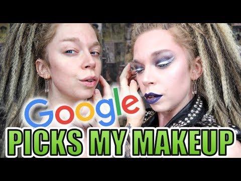 Google Picks My Makeup CHALLENGE! | GRAV3YARDGIRL