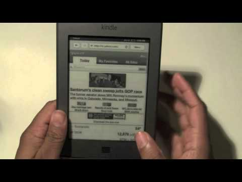 Kindle Touch: How to Check Email​​​ | H2TechVideos​​​