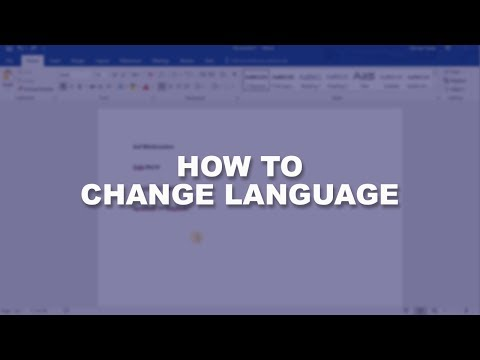Microsoft Word 2016 Essential Training | Change Language