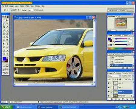 photoshop car mod tutorial wheels colour change lower