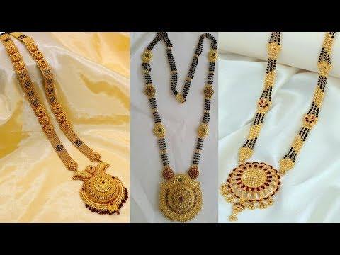 Latest Light Weight Gold Long Mangalsutra Designs - She Fashion