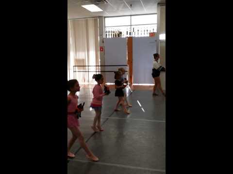 Ballet I dancing with props