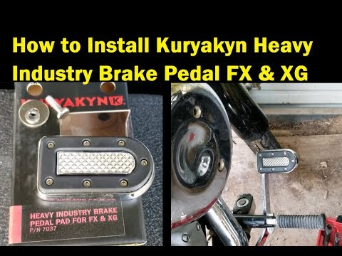 How to Install Kuryakyn 7037 Brake Pedal 2004 FXST Softail Standard