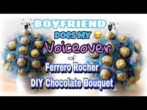 Boyfriend Does Voiceover of My DIY Ferrero Rocher Chocolate Bouquet | have fun 😁
