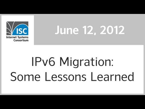 IPv6 Migration: Some Lessons Learned