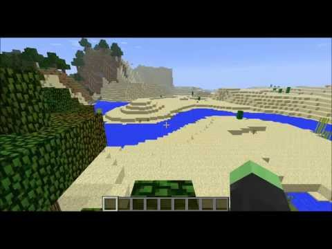 Minecraft 1.7 Seed: TRIPLE SAND TEMPLE!!! (Horse Armor, Saddle, Gold Galore!)