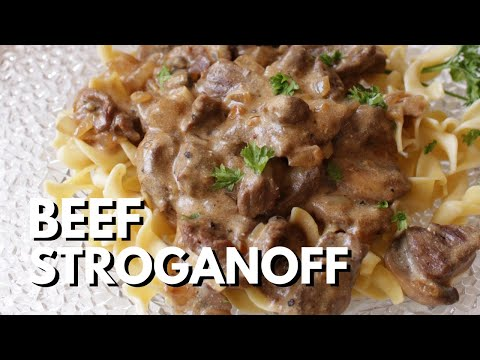 Beef Stroganoff For One - ONE DISH KITCHEN