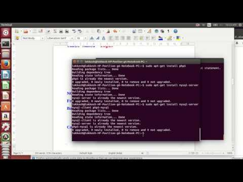 SImple PHP Login form Validation Using MySQL in UBUNTU