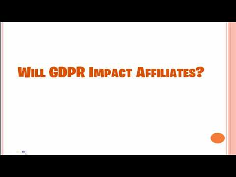 What is GDPR and Will it Affect Affiliates