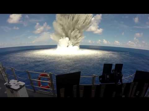 10,000 Explosive Charge Underwater Shock Test