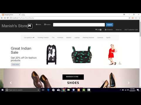 how to run php project online shopping using xampp server