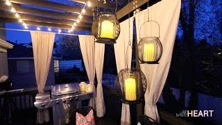 Outdoor String Lights and Hanging Lanterns | withHEART