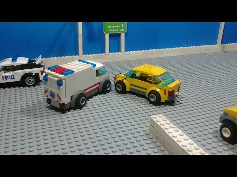 Lego City: Rockwell Town Car Accident [Stop Motion Animation]