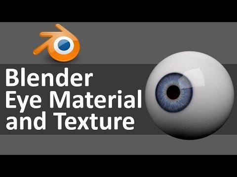 Blender Eye Materials and Texture