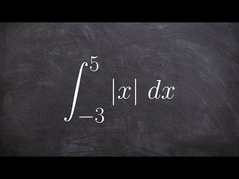 Calculus Unit 4   Learn how to evaluate the definite integral of absolute value by graphing
