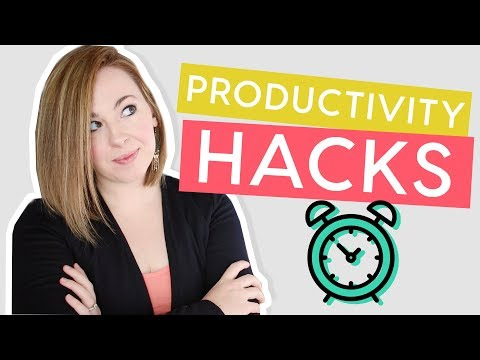 Productivity Hacks   5 Ways to Get MORE Done