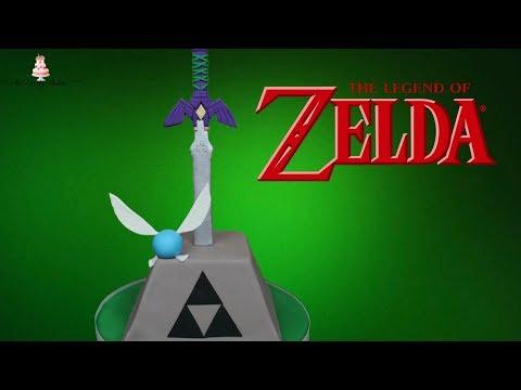 Zelda Cake Master Sword In The Stone Tutorial!