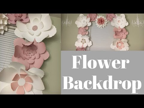 Flower backdrop DIY for any occasions