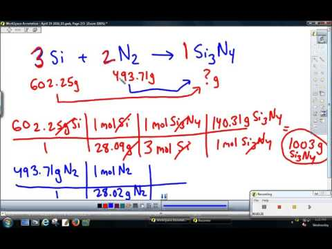 Calculating Mass of Excess Reactant (