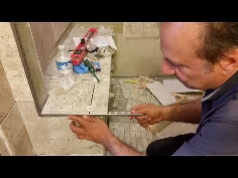 How To Cut Aluminum Trim   -  For Tile Outside Corner Threshold -  The Easy Way