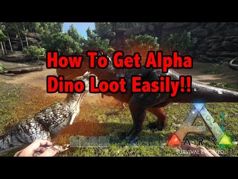 How To Get Alpha Dino Loot Easily!!