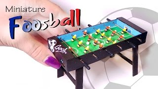 Miniature Foosball Table Tutorial (Working) // Dolls/Dollhouse