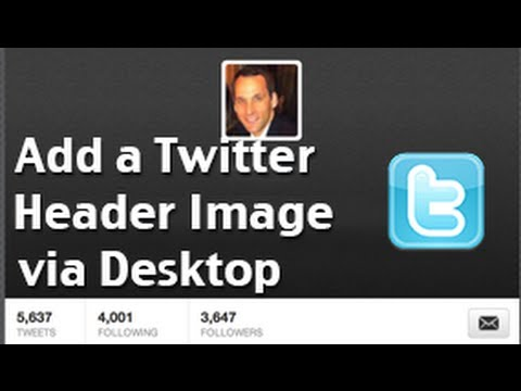How to change your Twitter Header Image - desktop