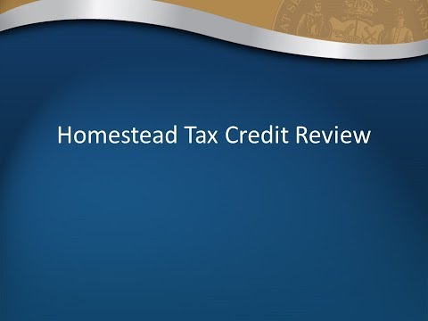 Homestead Credit Filing Overview for Tax Preparers