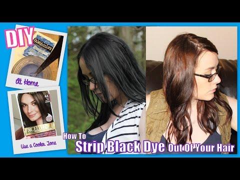How To Strip Black Hair Dye & Dye Your Hair a Lighter Color