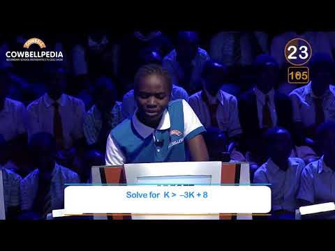 Young lady absolutely kills it in Nigerian Maths Competition!