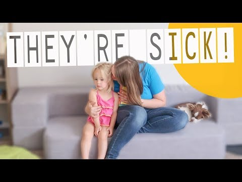 SHE HAS A FEVER! | Two Sick Toddlers 😢
