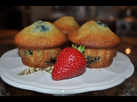 💖 How to make MOIST Blueberry Muffins from scratch - RECIPE by Mommy Is A Chef Episode 24