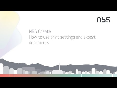 How to use print settings and export documents