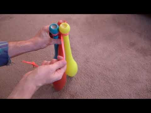 Carry your juggling clubs with a shoelace