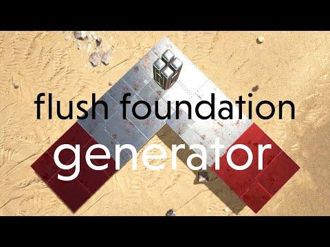 Ark Survival Evolved 43: omnidirectional flush foundation generator
