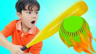 Annie and Sammy Pretend Play Kids Sports Challenge for Kids | Baseball Archery and Darts