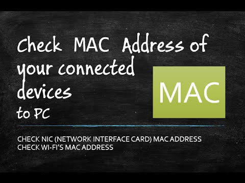 How to Check MAC Address of Connected Devices In Your Computer