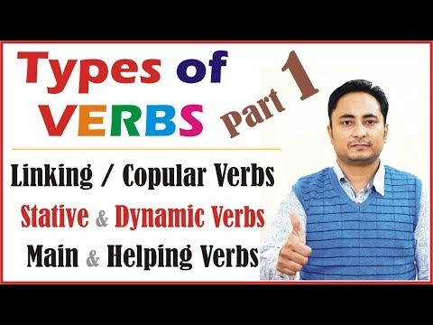 Verbs in English Grammar | All Types : Linking Copular Stative Dynamic Irregular Regular Transitive