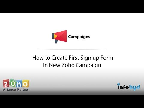How to Create First Sign-up Form in New Zoho Campaign