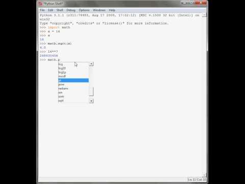 Python Programming Tutorial Prt 6, Math Module