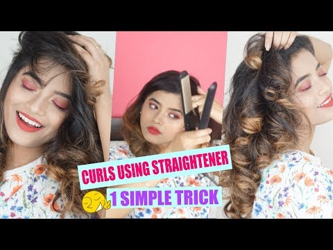 One Simple Trick To Curl Hair Using HAIR STRAIGHTENER| Shweta Makeup&Beauty